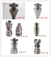 Wholesale Universal Domeless Titanium Nail IN IN mm mm mm Male Female Dual Function GR2 Ti Nails Ash Dab Rigs