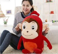 big sausage - New cm Big Stuffed Soft Plush Giant Red Sausage Monkey Toy Nice Gift For Kids and Friends