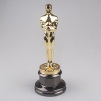 Wholesale Replica oscar trophy award metal scale inches music TV movie souvenirs Free Engraving