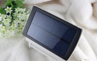 Wholesale DHL High quality Solar Battery Charger mAh solar charger Portable Double USB Solar Energy Panel Power Bank For Mobile Phone PAD