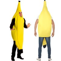 adult banana suit - 2016 in Europe and the pure color sexy fruit banana suit Halloween stage loading Adult dance bar wedding carnival singles day party