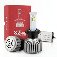 Wholesale LED New X7 Series W LM LED Headlight Bulbs Super White Power H1 H3 H7 H8 H9 H11 HB3 HB4