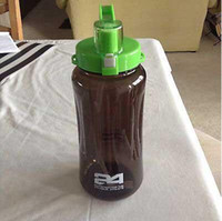 gallon water bottle - Herbalife Nutrition Mega Half Gallon oz Shake Sports Water Bottle Tritan Plastic Black with Green Lid Herbalife Fit Club