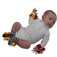 Wholesale 2016 lamaze sock baby rattle baby toys Lamaze Garden Bug Wrist Rattle and Foot Socks Bee Plush toy toddler Infant toys