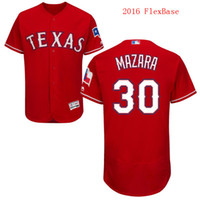 texas rangers - 2016 Flexbase Texas Rangers Nomar Mazara Red White Navy Blue Cheap Men MLB Baseball Jerseys Top Quality Outlets Store