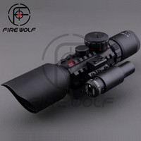 air rifle scopes - 3 X42 E M9 C Mil Dot Hunting Shooting Riflescope Airsoft Air Gun Rifle Scope With Red Laser Sight