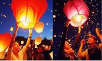 Bon Marché Lantern-Freeshipping SKY Balloon Kongming souhaitant lanternes volantes lanterne de papier en gros Lumières Halloween Chinese <b>Lantern</b>
