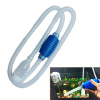Wholesale New arrive Aquarium Fish Tank Vacuum Gravel Water Filter Cleaner Siphon Pump Manual Cleaner Pump Safe Vacuum