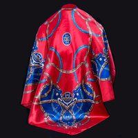 Wholesale 2016 New Scarf silk scarves new brand fashion square women scarves multicolor ring x90cm Chinese traditional style S1