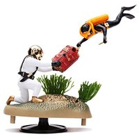 air tug - Undersea Tug Of War Action Air Aquarium Ornament Aquarium Landscaping