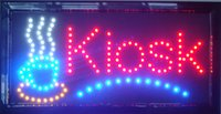 animated coffee - 2016 Animated LED Neon Light Kiosk Coffee Sign with On Off Switch and Chain quot x quot