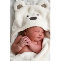 Wholesale Animal shape baby hooded bathrobe baby bathrobe baby bath towel baby blankets neonatal hold to be