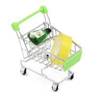 Wholesale Mini Supermarket Handcart Shopping Utility Cart Mode Storage Funny Folding Shopping Cart With Wheels cm cm cm ZA1125