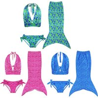 Wholesale 2016 New Hot Selling Mermaid Mermaid Bikini Girls Swimsuit Children s Children s Wear Swimsuit Girls Split Swimsuit