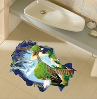 Wholesale High quality Creative PVC D Art Mural Waterproof Removable Living Room Floor Sticker