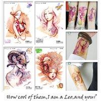 big fake tattoos - Different Constellation Tattoo Designs Cool Arm Shoulder Body Art Temporary Tattoo Stickers Fake Big Tatoos