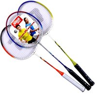 Wholesale A DHS E TX202 family type badminton racket pack has worn line
