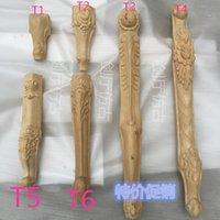 Wholesale Dongyang wood carving wood table foot full price of European coffee table stool foot makeup cabinet foot furniture legs