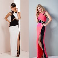 accent custom - New Sexy Elegant evening dressess Fashion Youthful Modern High Quality Formal Party Charming Celebrity Dresse Color Accented Gown QW722