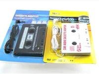 Wholesale 400pcs mm jack CAR Audio CASSETTE TAPE ADAPTER FOR iPhone Samsung Galaxy S3 S4 Nano MP3 IPOD NANO CD IPHONE