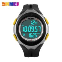 auto calender - New Fahsion SKMEI Brand Waterproof Sport Watch Calender Date Watches LED Pedometer Silicone Band Wristwatch Relogio Masculino