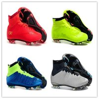 achat en gros de bottes de jeunes-2016 Mercurial Superfly 4 FG enfants chaussures de football bottes CR7 Crampons Laser femmes jeunes filles chaussures de football EUR Taille 35-40 Livraison gratuite