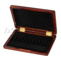 Wholesale x95x21mm Maroon Solid Wooden Oboe Reeds Case Protect Against Moisture