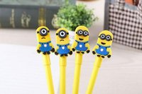 Wholesale Minions Despiable Me Ballpoint Pens Cartoon Cute Stationery Gel Pen Papeleria Student Office Prize Children Gift