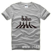 band tee shirts - New Summer Punk Rock Band Beatles T Shirts Men Cotton Short Sleeve Printed Man T Shirts Fashion Male Hip hop Tops Tees Top Brand Hot