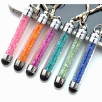 Wholesale 5x Luxury Crystal Capacitive Mini Stylus Pen For Mobile Phone Tablet IPhone IPad