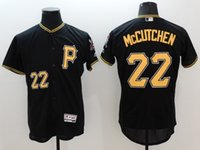 Wholesale New Flexbase Baseball Jerseys Pirates Mccutchen Jersey Black Color Size Mix Order All Polyester Flexbase Jersey