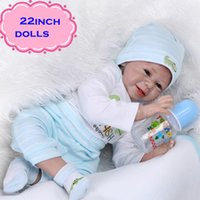 best looking models - Newest inch Lovely And Best Gift NPK Silicone Reborn Baby Dolls With Sweet Smile Real Looking Play Doll Brinquedos For Girl