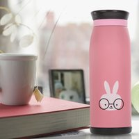 Wholesale 500ml Thermos Mug Insulated Tumbler Travel Cups Stainless Steel Vacuum Cup thermos tea termos coffee flask PINK Color