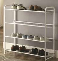 Wholesale Home Furnishings Accent Racks Lightweight Shoe Rack in White Finish