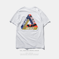 basic cotton - 2016 palace skateboards classic triangle print mens t shirt basic summer noah clothing cotton short sleeve tees tops