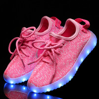 childrens shoes - New Fashion Light Up Kids Led Sneakers Shoes Luminous Girl Boys Glowing Casual Sport With Simulation For Childrens Running Flyline Shoes