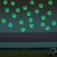 background for boys - Football Soccer Ball Through The Wall Stickers TV Background Removable Living Room Bedroom Wall Decals Boys Room Decoration