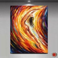 asian wall decor - LARGE Modern Abstract Asian Art Oil Painting Wall Decor canvas
