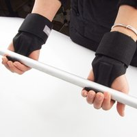 bar top support - New Top Quality Weight Lifting Bar Straps Gym Bodybuilding Wrist Support Wraps Bandage Black
