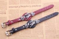beads animation - YP0809 Hotsale punk style bracelet fairy tail mark animation around leather jewelry