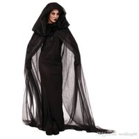 beauty tv movie - Halloween Costume Club Carnival Dress Crape With hood Wandering Soul Female The Ghost The Witch Costume