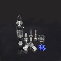 Wholesale Colorful Kit mm Joint In Black Clear White Colors Full Kit with Accessories Titanium Nails For Wax Dry Herb heady bongs water pipe