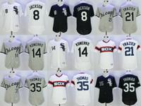 Wholesale Chicago White Sox Bo Jackson Paul Konerko Todd Frazier Embroidery Home Alternate Flexbase Stitched Throwback Jerseys