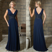 b lights crystals - sexy navy mother bride dresses v neck b back crystal beaded appliqued lace waist shirred a line skirt navy chiffon wedding guest dress