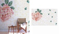 Wholesale Spring flower pattern glass mosaic wall art mural home remolding decoration mosaic mural flower murals living room decoration