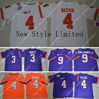 america cheap - NWT Cheap Clemson Tigers DeShaun Watson Artavis Scott Wayne Gallman II Embroidery Logos Stitched Men s America College Football Jersey