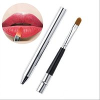 Wholesale Professional Make Up Tool Portable Retractable Cosmetic Lipstick Gloss Lip Brush