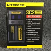 Wholesale Authentic Nitecore SC2 Battery Charger Bay Intelligent Charger With Color LED Light Battery Charger DHL Free Ship