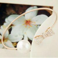 big braceletes - Pulseira Feminina Fashion Simulated Pearl Bracelet for Women Cuff Braceletes Bangles Big Perlas Bow Pulseras Mujer Jewelry