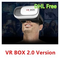 Cheap Android and IOS vr box 2.0 Best 3.5 Not Included VR head mount 3d glasses